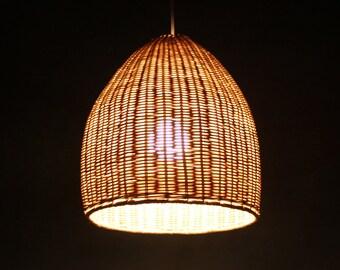 Rattan Basket Pendant Lights with one Lampholder-110-240V/50-60Hz