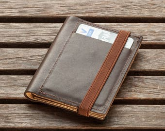 Slim Leather Wallet, minimalist wallet, leather wallet, One-of-a-kind gift