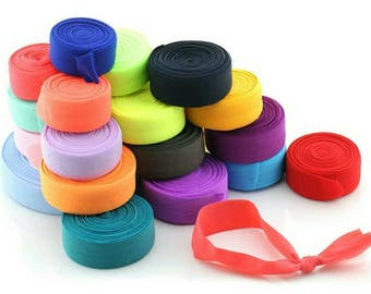 2cm wide colourful elastic bands for sewing and crafting purpose