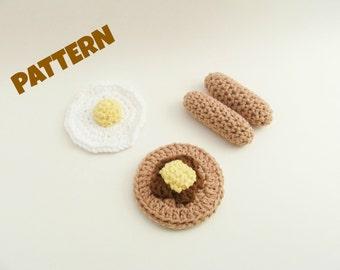 Amigurumi Play Food Pattern, Crochet Play Food Pattern, Crochet Toy Pattern, Amigurumi Toy Pattern, Crochet Amigurumi Pattern, Toy Pattern