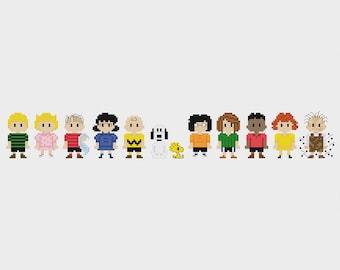 Peanuts Cross Stitch Pattern PDF Instant Download