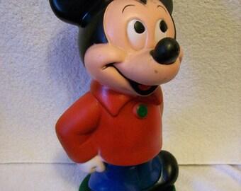 Mickey Mouse Bank,  Signed Walt Disney Prod.