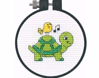 Turtle Learn-A-Craft - Beginner Cross Stitch Kit