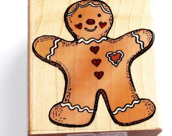 Gingerbread Cookie Rubber Stamp from Hero Arts