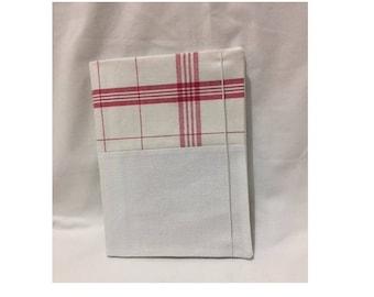 medium embroidery - notebook - pattern Tea towel - aida canvas cover 5 5pts/cm