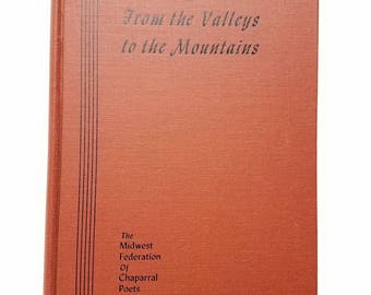 """Poems """"From the Valleys to the Mountains: Midwest Poetry."""" Chaparral Poets. 1945. Poetry anthology. Autographs. Regional literature"""