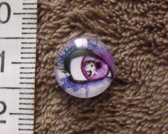 cabochon glass theme eye 12mm