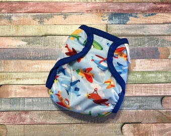Air Travel Polyester PUL Cloth Diaper Cover With Aplix Hook & Loop Or Snaps You Pick Size XS/Newborn, Small, Medium, Large, OS