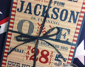 American Themed Birthday Invitation