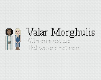 Daenerys and Missandei Cross Stitch Pattern (PDF)