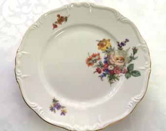 Vintage Edelstein, Bavarian porcelain (4) plates, Maria-Theresia,