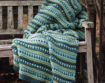 PDF Knit Afghan Pattern Throw Blanket Coverlet