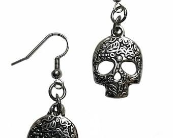 Day of the dead, sugar skull, calavera earrings