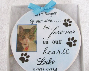 Cat Memorial - Pet Memorial Ornament- Cat Memorial Ornament - Christmas ornament - Cat ornament - Pet loss Gift - Pet Loss - Christmas