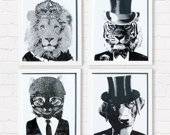 Hand screen printed (A4) art prints