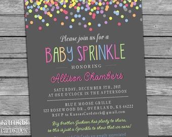 Baby Sprinkle Invitation, Girl Sprinkle Invitation, Baby Girl Sprinkle, DIY Printable, Baby Shower invitation, Baby Girl, Confetti
