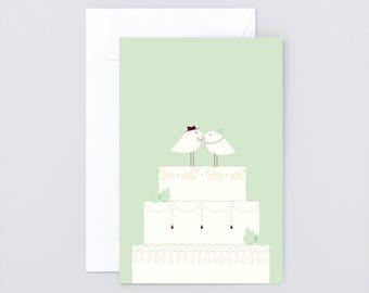 Folding Card» Bird's Wedding «