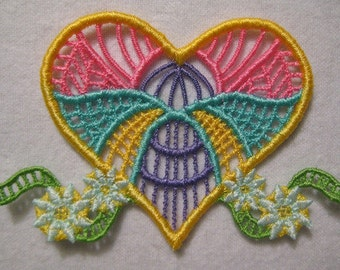 """FSL Beautiful Hearts  ( 10 """"Free Standing Lace"""" Machine Embroidery Designs from ATW )"""