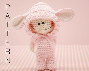 Amigurumi crochet doll pattern - The Little Doodah Millie doll PATTERN ONLY (English)
