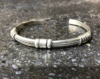 Vintage 90's Sterling Silver Cuff Bracelet