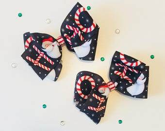 Christmas hair bows, big christmas hair bows, Santa Claus hair bow