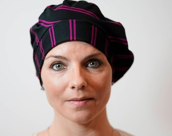 Beret for women who lose their hair because of chemotherapy, trichotillomania, alopecia and other hair problems