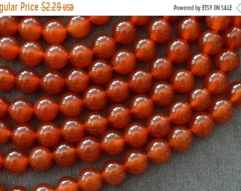 25% off SALE 8mm Carnelian Beads, Stone Beads, Smooth, Shiny Round Beads Orange Stone Beads (12 beads) Gemstone Beads
