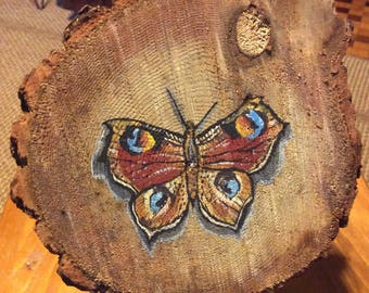 Butterfly on wood