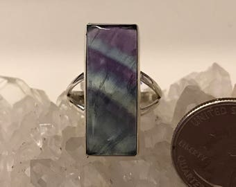Abstract Fluorite Ring Size 10