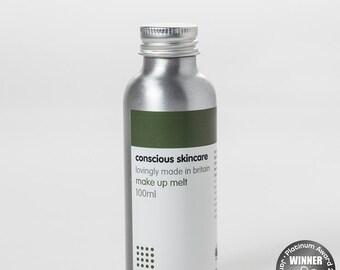 Organic Make Up Melt for All Skin Types. Award Winner. Chemical Free Organic Skin Care. Vegan Friendly. 100ml size.