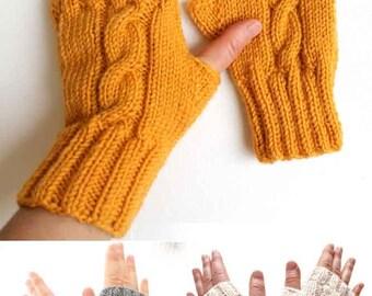 Mustard yellow Glove, Hand Knit Fingerless, Soft Wool Mittens, Halloween Costume, Arm Warmers, Knit Boho Glove, Womens Fingerless, Arm Cuffs