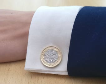 2017 One Pound Coin Cufflinks (New Design)