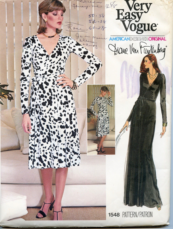 Mode 1548 DIANE Von Fürstenberg Wrap Kleid Sexy Maxi-Kleid Vogue ...