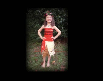 Island Girl costume WITH accessories