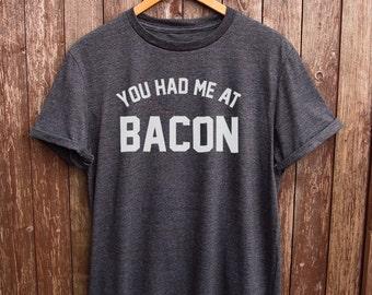 Funny Bacon t-shirt - funny t-shirts, bacon lovers, husband gifts, christmas gift, food tshirts, mens t shirts, foodie tees, bacon print