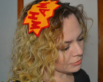 Comic Book Headband - WHAM POW - Comic Con and Cosplay Costume Accessories - nerdy accessories fangirl hair