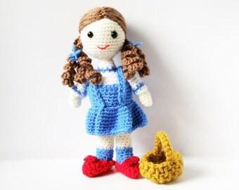 Amigurumi Pattern Doll - Dorothy - Crochet  Doll Pattern
