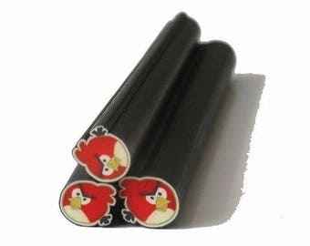 1 x Fimo Cane ANGRY BIRD