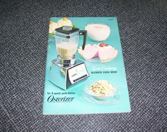 Spin Cookery Blender Cook Book   Osterizer Pb 1966 Vintage