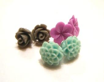 SALE Flower Studs