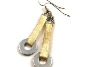 Brass Dangle Earrings Hardware Jewelry