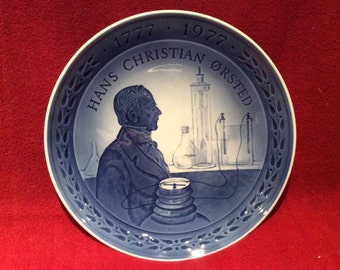 Royal Copenhagen Porcelain Plate Hans Christian Orsted 18cm diameter
