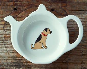 Border Terrier Teabag Dish