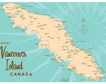 Vancouver Island, Canada Map Print