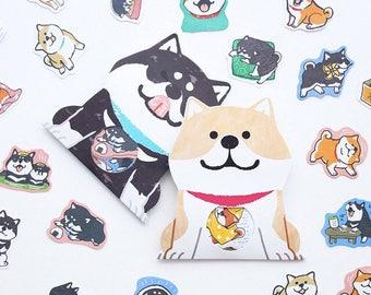Shibanban shiba inu dogs cute kawaii kitsch stickers seal flakes