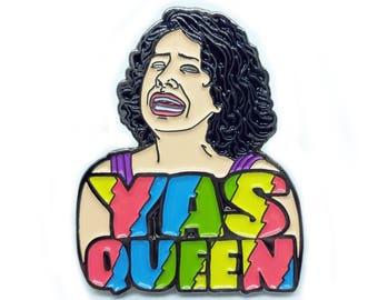 Broad City Ilana Glazer Yas Queen Enamel Pin