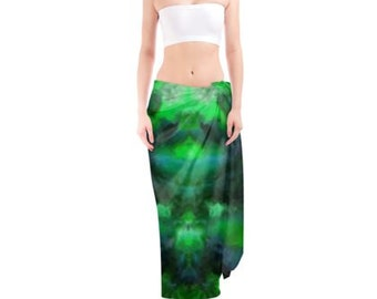 Jade 1 Silk Sensation Sarong Designer Hand painted supreme clothing, Boho, Gypsy, Beach, Scarf, Wrap, Dance, Bridal, gift