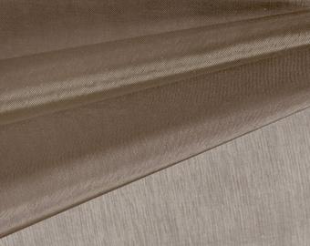Brown Organza Fabric by the Yard, Wedding Decoration Organza Fabric, Sheer Fabric - Style 1901