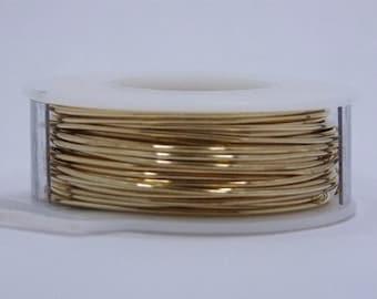 "20 GA (.032"")  Round Brass Wire 1/4lb Coil"