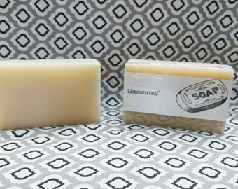 Unscented Cold Process Soap Bar All Natural